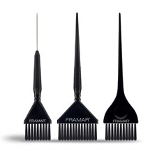 Framar Family Pack Brush Set - Black (3 Pack)
