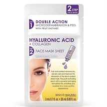 Skin Republic Hyaluronic Acid & Collagen Face Sheet Mask - 2 Step