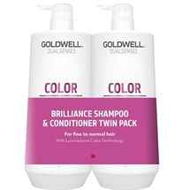Goldwell Dualsenses Colour Brilliance Shampoo & Conditioner 1000ml Twin Pack
