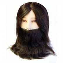 Hair Tools Mens Training Head With Beard
