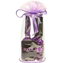 Head Jog Oval Purple Brush Bag (4 Brushes)