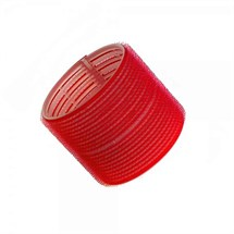 Hair Tools Velcro Jumbo Cling Rollers 12pk - Red (70mm)