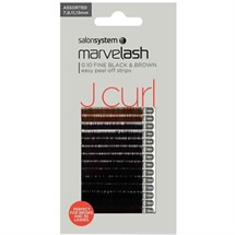Salon System Marvelash Silky Lash Extensions J Curl 0.10 (Fine) - Assortment Black/Brown