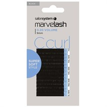 Salon System Marvelash Lash Extensions C Curl 0.20 (Volume) - 9mm Black