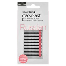 Salon System Marvelash Russian 3D Fan 0.07 (Volume) - Assorted (8,9,10,11,12mm)