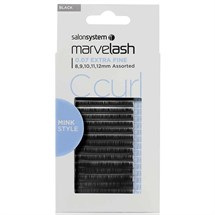 Salon System Marvelash Lash Extensions C Curl 0.07 (Extra Fine) - Assorted (8,9,10,11,12mm)
