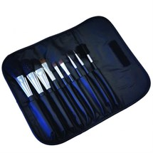 Hive 9 Piece Brush Set (Black Wallet)