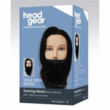 Head-Gear Mens Training Head with Beard