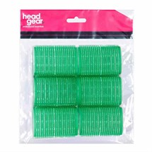 Head-Gear Velcro Rollers - Green Pk6 (48mm)