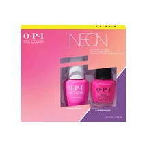 OPI Lacquer + GelColor Duo - Neon - V-I-Pink Passes