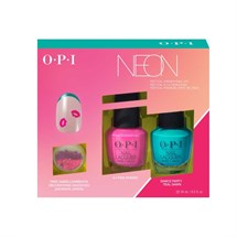 OPI Lacquer Duo - Neon +Nail Embellishments
