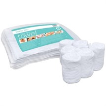 BeautyPro Facial Wrap Towels - White (6 pack)