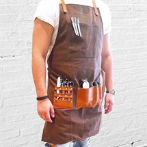 BARBER PRO Barber Apron - Chocolate Brown