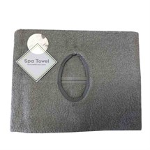 Spa Towel with Easy Breathe Hole - Grey