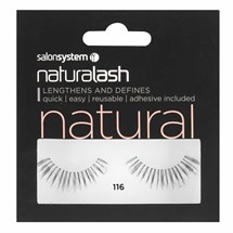 Salon System Naturalash Strip Lashes - 116 Black (Natural)