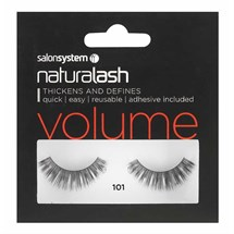 Salon System Naturalash Strip Lashes - 101 Black (Volume)