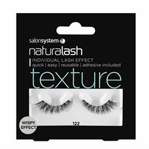 Salon System Naturalash Strip Lashes - 122 Black (Texture)