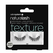 Salon System Naturalash Strip Lashes - 121 Black (Texture)