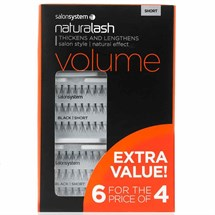 Salon System Naturalash Extra Value Pack (6 for the price of 4) - Short