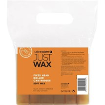 Salon System Just Wax Roller Refill Soft Wax - Large Head (6x 100ml Cartridges)