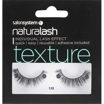Salon System Naturalash Strip Lashes - 135 Black (Texture)