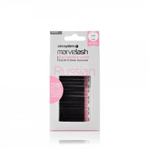 Salon System Marvelash Russian 0.07 C & D Double Layer Assorted - Black