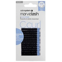 Salon System Marvelash C Curl 0.12 Double Tip - Assorted