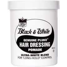 Black & White Pluko Hairdressing Pomade 198g - Normal