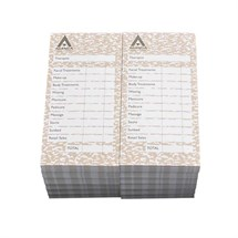Agenda Beauty Bill Check Pads - 12 X 100 Leaf Pads