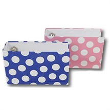 Polka Dot Binder A - Z Index Set - Pink