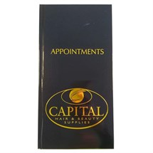3 Column Appointment Book - Black