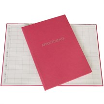 3 Column Appointment Book - Spangly Pink