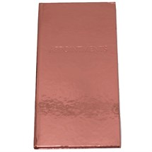 3 Column Appointment Book - Bronze