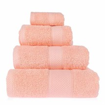 Aztec Single Towel - Peach