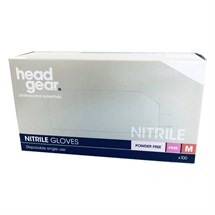 Head-Gear Pink Powder Free Nitrile Gloves Box 100