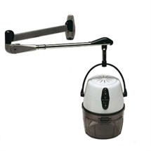 Salon Ambience Athos Black Hood Dryer - One Speed with Arm