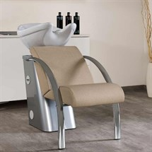 Salon Ambience Dreamwash Washpoint - Chrome Armrests & White Basin