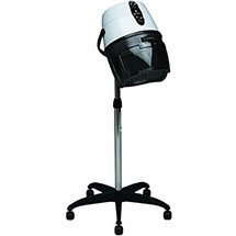 Salon Ambience Athos White Hood Dryer - One Speed with Base