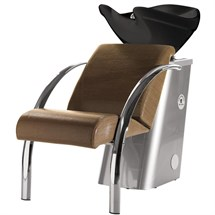 Salon Ambience Dreamwash Washpoint - Chrome Armrests, Black Basin