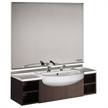 Salon Ambience Horizon Men's Barber Styling Unit - Wenge with Basin