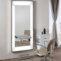 Salon Ambience Platium Styling Unit + Mirrored Shelf