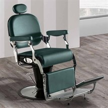 Salon Ambience Barber Chair with Legrest and Black Frame