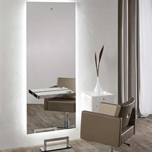 Salon Ambience Space Styling Unit-Aluminium Mirrored Shelf