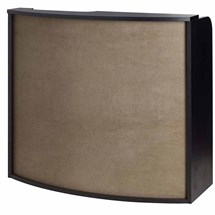 Luca Rossini Verona Reception Desk [Black with Sky Panel]