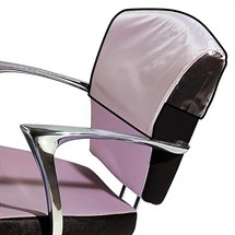 Salon Ambience Bespoke Hand Stitched Chair and Wash Unit Seat Cover Fabric or Clear PVC