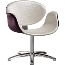 Salon Ambience Amber Swivel Chair + Five Star Base