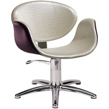 Salon Ambience Amber Swivel Chair [lockable, hydraulic pump] + Five Star Base