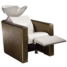 Salon Ambience Revolution+ Wash Unit - with White Basin, Legrest & Massage