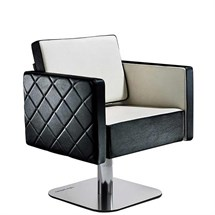 Salon Ambience Square Hydraulic Chair - Quilted