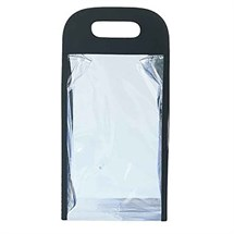 Sinelco Sibel Bag Duo Clear Cosmetic 29x15x9cm Black Handle